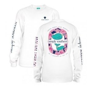 Simply Southern Tops - NWT! Long Sleeve Simply Southern Top Size Large
